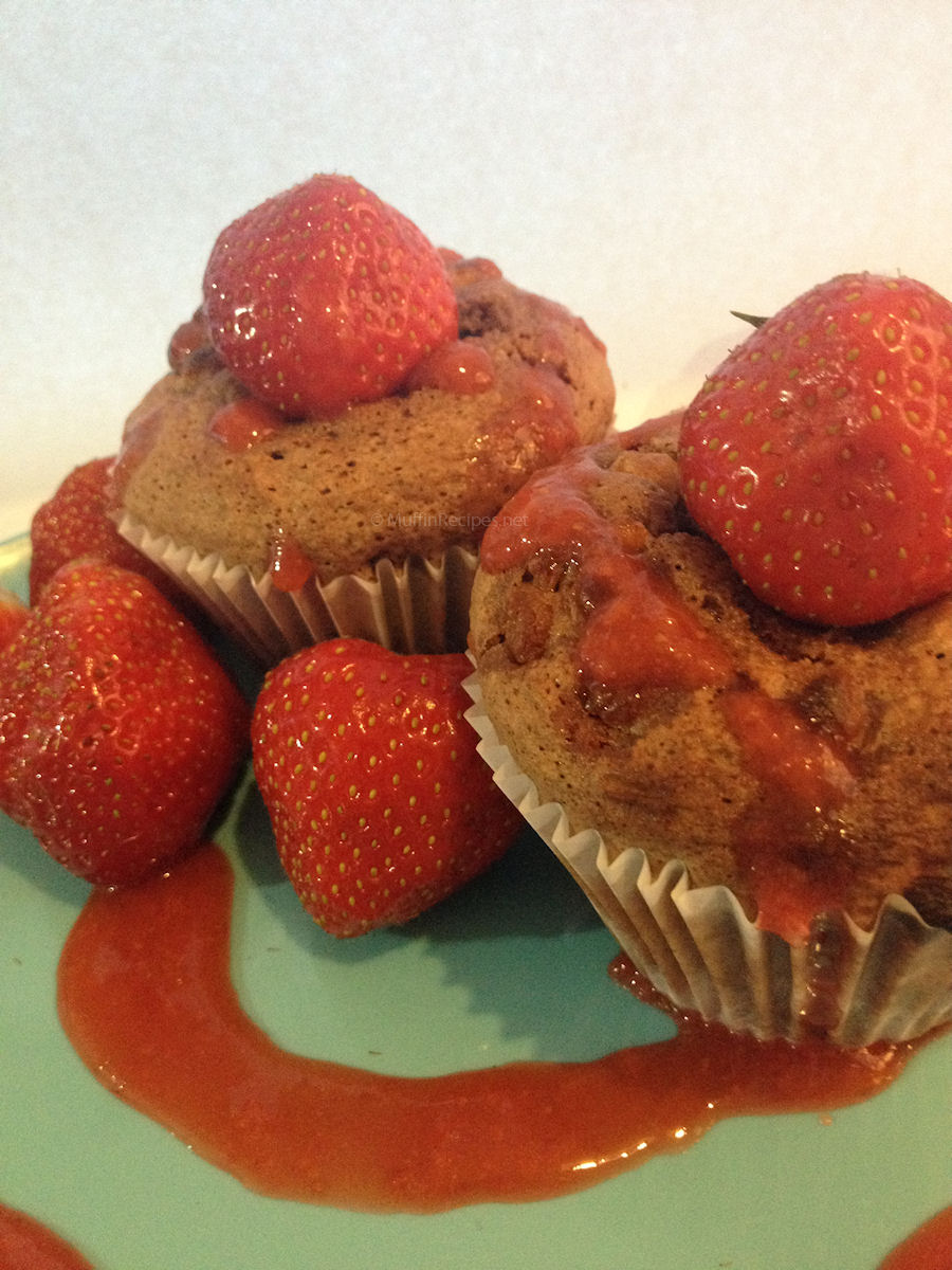 Strawberry Muffins Recipe — Dishmaps